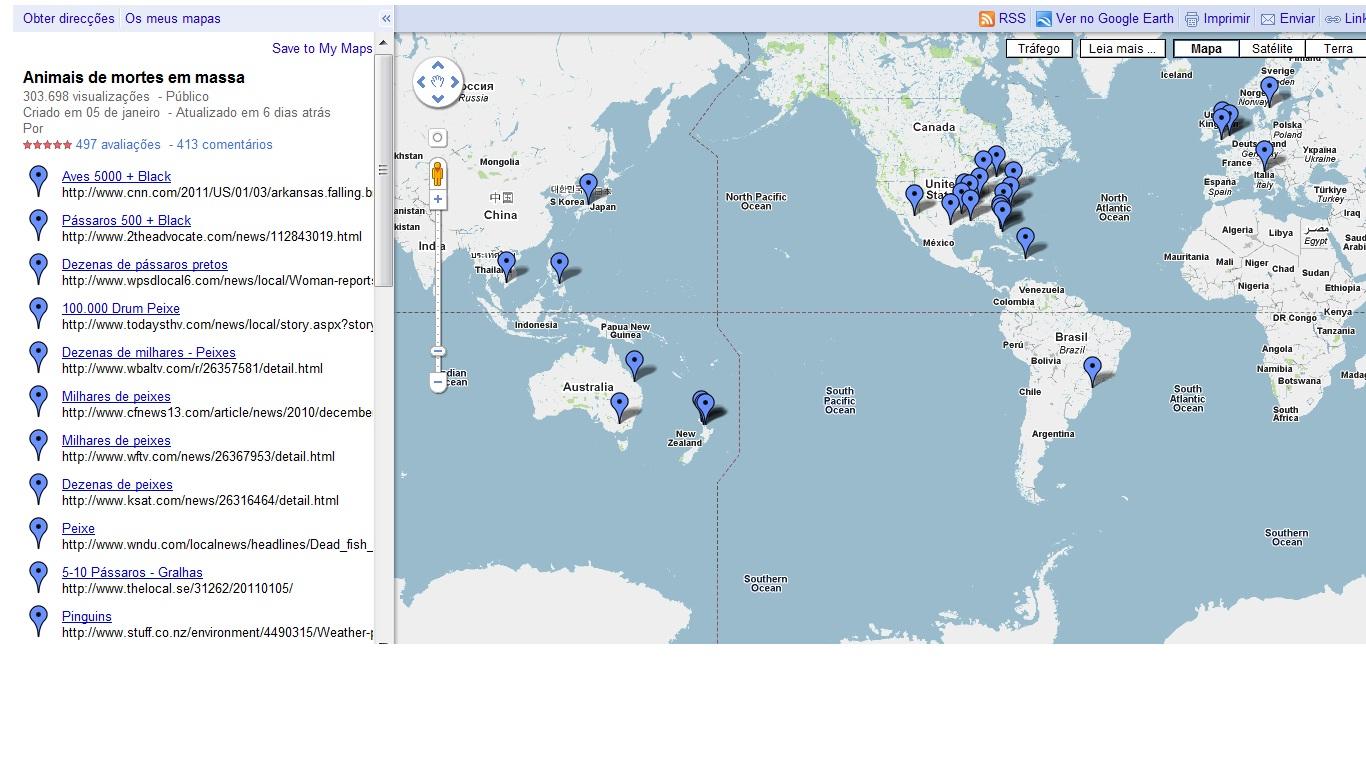 GOOGLE MAPS PEIXES E AVES
